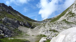 Das weite Tal hinter dem Steiglpass