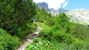 Auf dem Wastl-Lackner-Steig zur Hofpürglhütte hinauf