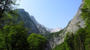 Ein schöner Blick auf die Wetterstein-Berge.