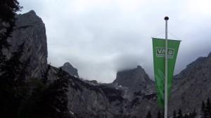 Die Zugspitze wird langsam von Wolken verhüllt - Zeit zu gehen