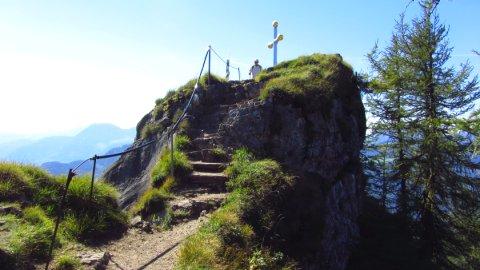 Die letzten Meter zum Kranzhorn-Gipfel