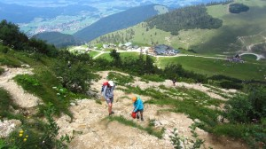 Am Aufstiegsweg zum Kampenwandgipfel