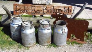 Bio-Buttermilch an der Sonnenalm