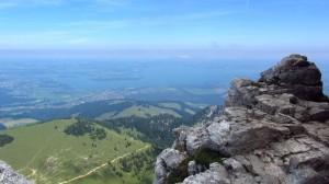 Toller Blick auf den Chiemsee und den Chiemgau von der Kampenwand