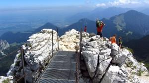Die Brücke am Kampenwand-Gipfel