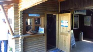 Das Lowa-Testcenter ist direkt an der Bergstation der Kampenwandbahn