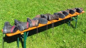 Schuhtrocknung beim Lowa-Testcenter