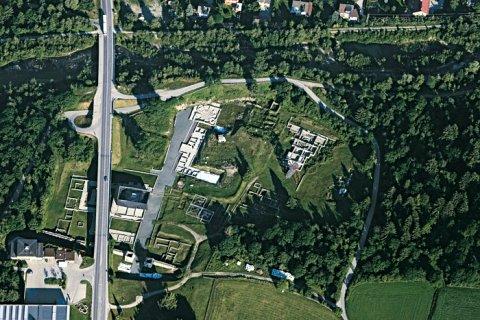 Die Ausgrabungsstätte der römischen Stadt Aguntum in Osttirol