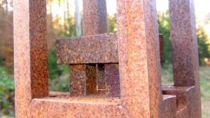 Details eines Eisenkunstwerks