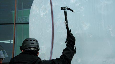Beim ersten Alpintag 2010 konnte man auch Eisklettern