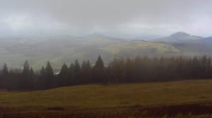 Der Nebel über der Rhön lichtet sich