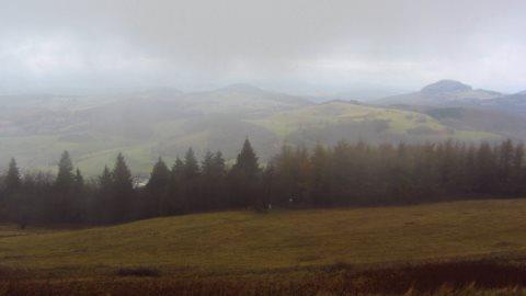 Panorama mit Nebel - der Blick von der Wasserkuppe