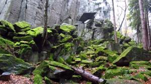 Das Klettergebiet Steinwand, eine mystische Gegend