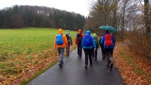 Weiter Wandern im Regen