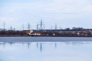 Blick zum Kraftwerk Neufinsing