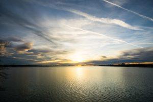Sonnenuntergang am Speichersee