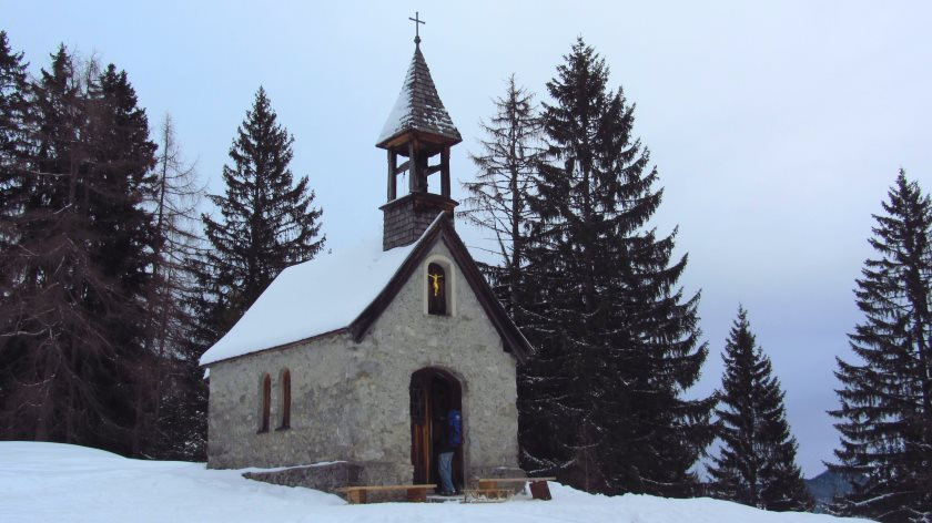 Die Anna-Kapelle. Von hier aus ist es nicht mehr weit bis zum Endpunkt der Wanderung