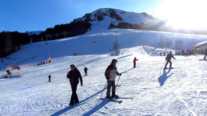 An der Bergstation der Gondelbahn zur Hohen Salve