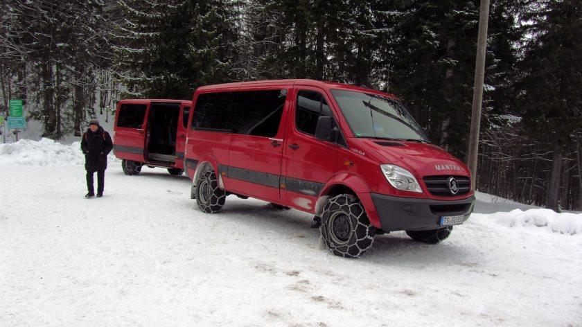 Mit diesen Bussen fahren wir von Reit im Winkl auf die Hindenburghütte