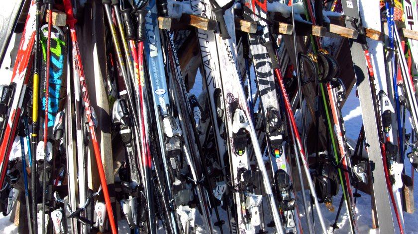 Eine kurze Pause im Skizirkus