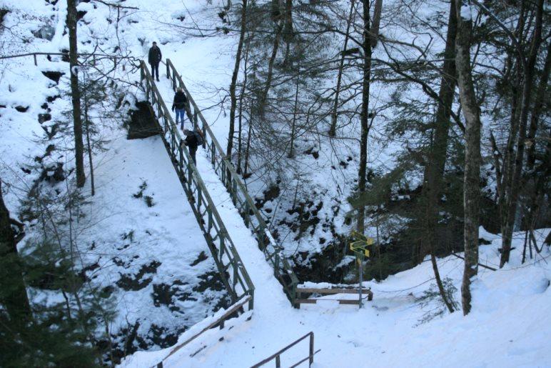 Blick zurück auf die Eiserne Brücke