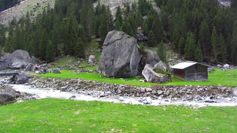 Boulderfelsen im Zillergrund