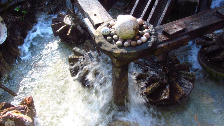 Die Kugelmühle an der Almbachkalmm
