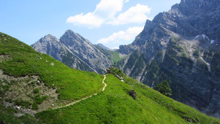 An der Torscharte im Karwendel