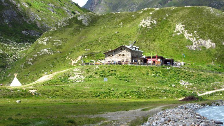 Unser Basislager - die Amberger Hütte
