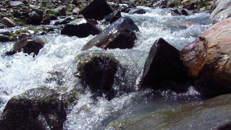 Sogar auf dem Foto sieht das Wasser des Sulzbachs eiskalt aus