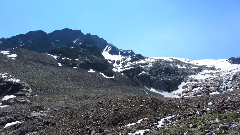 Steine, Felsen, Geröll - die Landschaft vor dem Sulztalferner