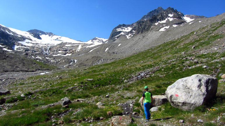 Auf dem Weg in Richtung Gletscher