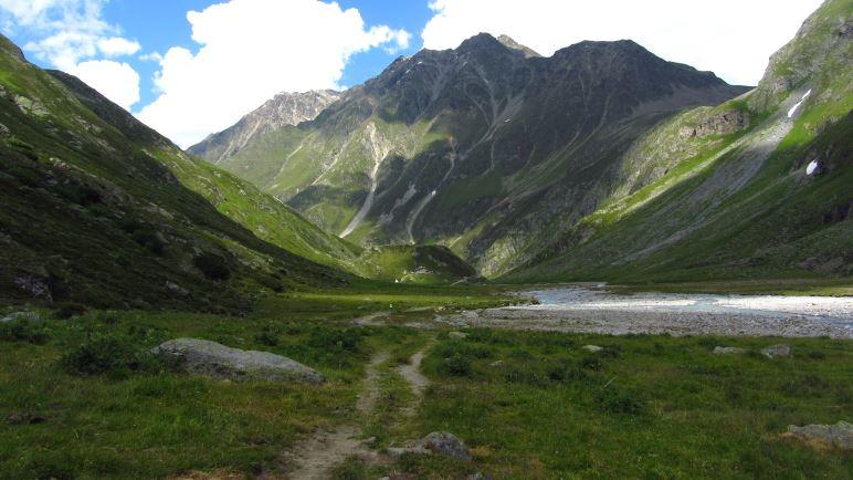 Auf dem Rückweg zur Amberger Hütte