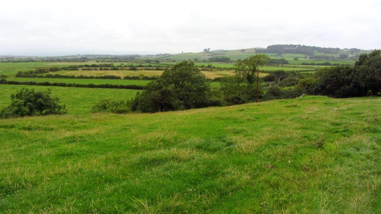 Blick über die Wiesen von Allithwaite und Flookburgh