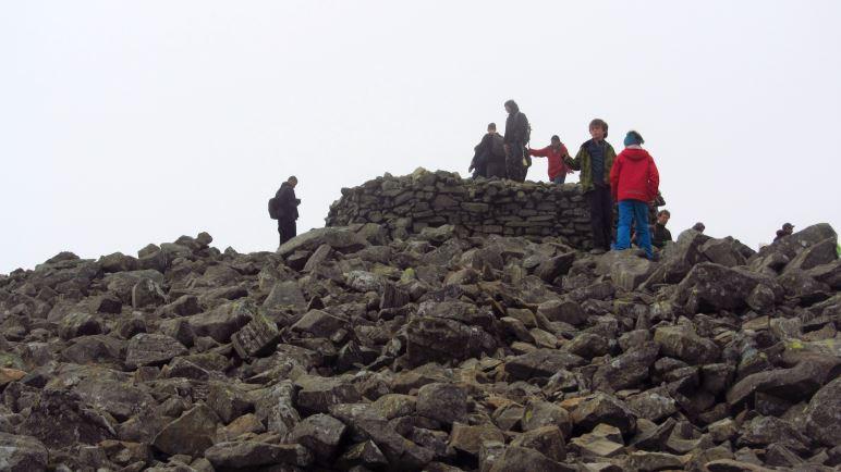 Auf dem Gipfel des Scafell Pike