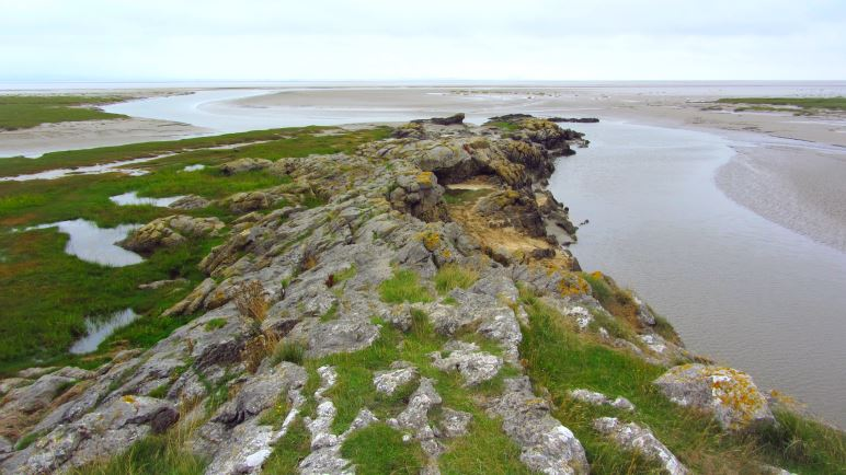 Toller Blick auf das Wattgebiet der Morecombe Bay