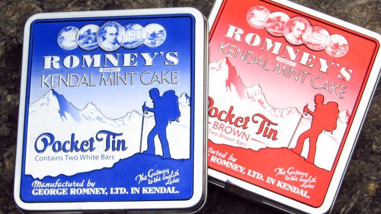 Romney's Mint Cake, mit dem Everest Schriftzug