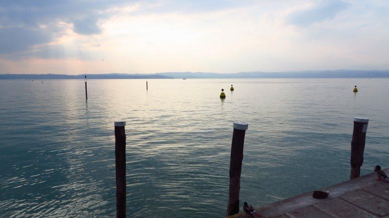 Abendstimmung am Gardasee bei Sirmione
