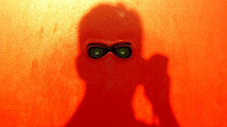 Rot - Selbstportrait auf der Buga in München