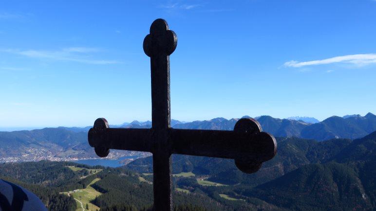 Das Gipfelkreuz des Fockenstein