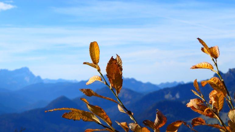 Eine Herbstwanderung von Lenggries über den Geierstein und den Fockenstein zum Tegernsee