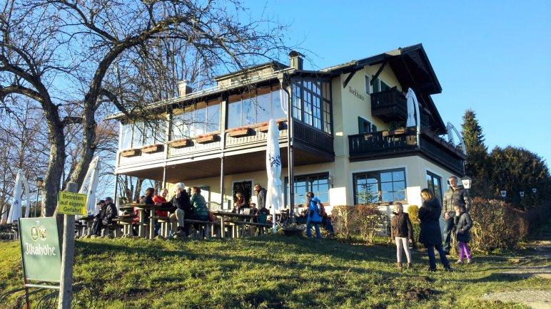 Das Forsthaus Ilkahöhe mit Restaurant und Biergarten