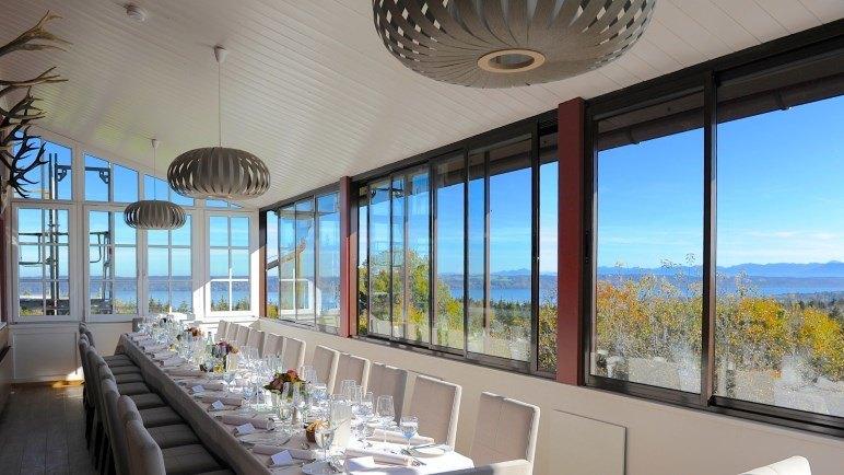 Eine Innenansicht des Restaurant Ilkahöhe