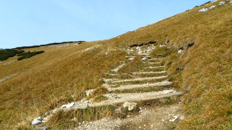 Einige Stufen zum Sonnwendjoch