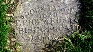 Inschrift auf der Attermire Rifle Range
