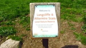 Hinweistafel auf das Langcliffe Attermire Scars Naturreservat