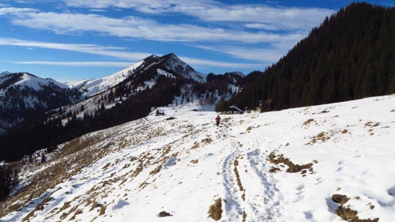 Nicht besonders viel Schnee auf der Himmelmoos-Alm