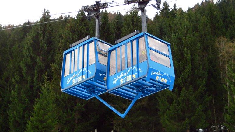 Die Doppelgondeln der Gerlossteinbahn