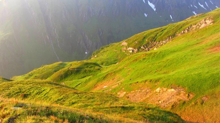 Sonnenaufgang auf der Gleiwitzer Hütte. Absolut wunderbar!