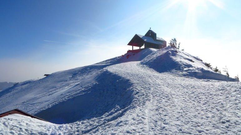 Die Gipfelkapelle auf dem Hochfelln